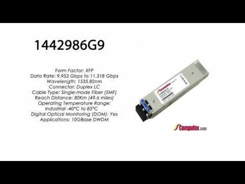 1442986G9  |  Adtran Compatible 11.3G DWDM XFP 1535.82nm 80km LC