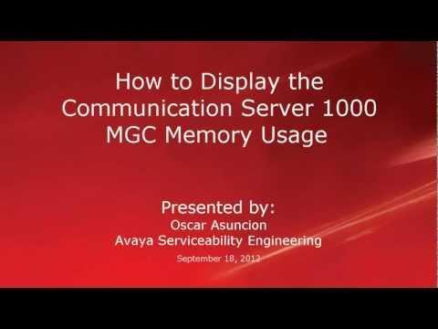 How To Display The Avaya CS 1000 Media Gateway Controller's Memory Usage