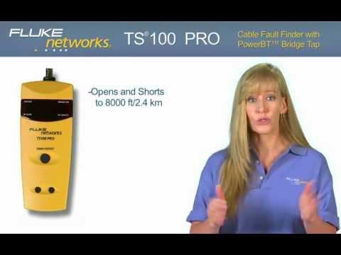 TS100 Pro - Find Cable Faults And Detect Bridge Taps: By Fluke Networks