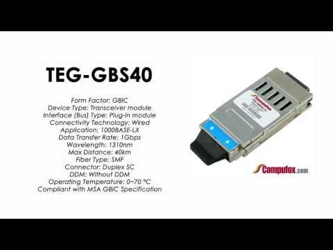 TEG-GBS40  |  TRENDnet Compatible 1000Base-LX 1310nm 40km GBIC