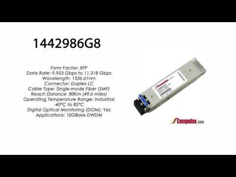 1442986G8  |  Adtran Compatible 11.3G DWDM XFP 1536.61nm 80km LC