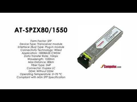 AT-SPZX80/1550  |  Allied Telesis Compatible 1000BASE-CWDM 1550nm 80km SFP
