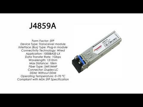 J4859A | HP Compatible 1000Base-LX 1310nm 10km SMF SFP