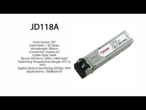 JD118A | HP Compatible 1000Base-SX 850nm 550m SFP