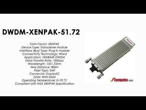DWDM-XENPAK-51.72  |  Cisco Compatible 10GBASE-DWDM XENPAK 1551.72nm 80km