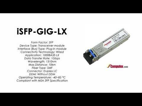 ISFP-GIG-LX  |  Alcatel Compatible Industrial 1000Base-LX 1310nm 10km SFP
