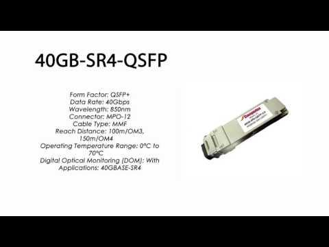 40GB-SR4-QSFP  |  Enterasys Compatible 40GBASE-SR4 QSFP+ 850nm 100m-OM3/150m-OM4