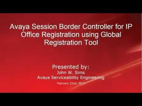 Avaya Session Border Controller For IP Office Registration Using Global Registration Tool