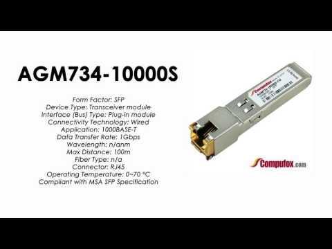 AGM734-10000S  |  Netgear Compatible 1000Base-T RJ45 100m SFP
