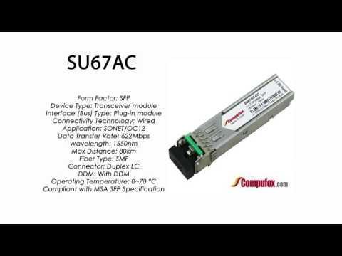SU67AC  |  Marconi Compatible SFP 622Mbps 1550nm 80km DDM
