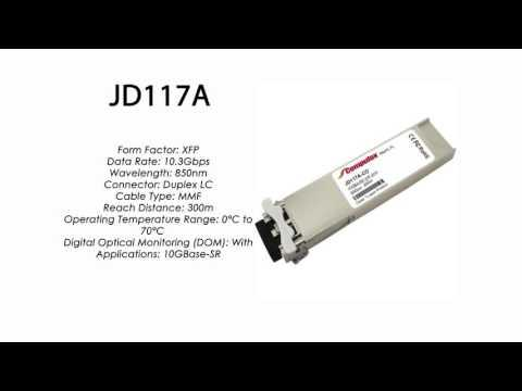 JD117A  |  HP Compatible 10GBase-SR 850nm 300m XFP