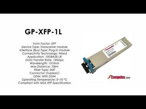 GP-XFP-1L | Force10 Compatible 10GBASE-LR XFP SMF 1310nm 10km