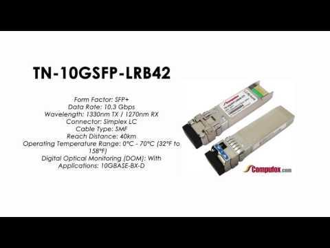 TN-10GSFP-LRB42     Transition Compatible 10GBASE-BX BIDI SFP+, 1330nmTx/1270nmRx SMF 40km
