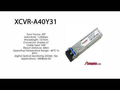 XCVR-A40Y31  |  Ciena Compatible 1000Base-EX 40km 1310nm SFP