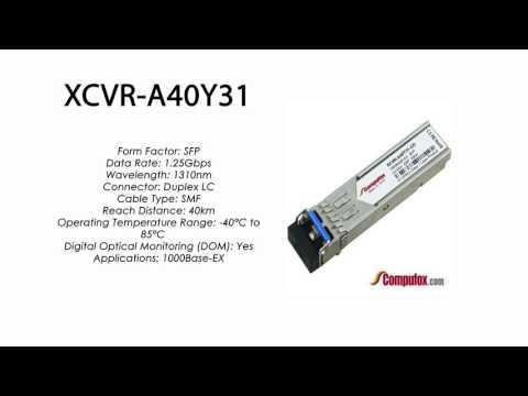 XCVR-A40Y31  |  Ciena Compatible 1000Base-EX 40km 1310nm SFP