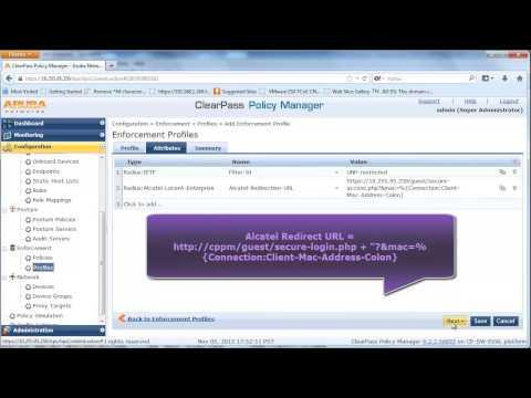 How To Configure Wired Guest Network Access With An OmniSwitch And ClearPass Guest Service
