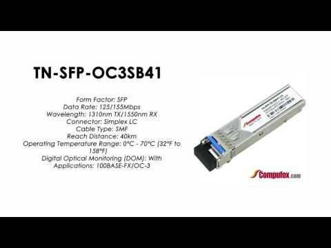 TN-SFP-OC3SB41 | Transition Compatible 100BASE-FX/OC-3 BIDI SFP 1310nmTx/1550nmRx 40km