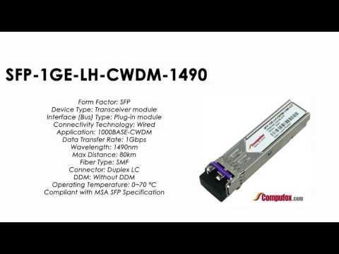 SFP-1GE-LH-CWDM-1490     Juniper Compatible 1000Base-CWDM SFP 1490nm 80km