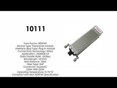 10111  |  Extreme Networks Compatible 10GBASE-LR XENPAK 1310nm 10km SMF