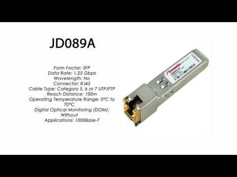 JD089A  |  HP Compatible 1000Base-T SFP RJ45 100m