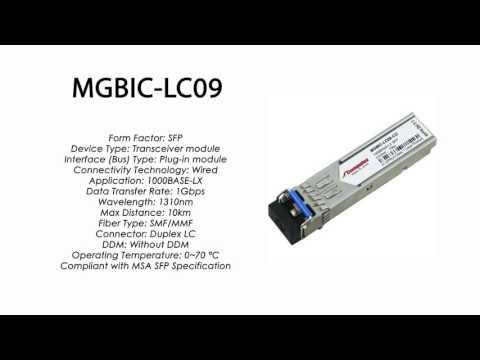 MGBIC-LC09  |  Enterasys Compatible 1000BASE-LX SFP 1310nm 10km SMF