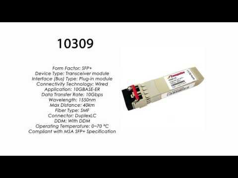 10309  |  Extreme Networks Compatible 10GBASE-ER SFP+ 1550nm 40km SMF