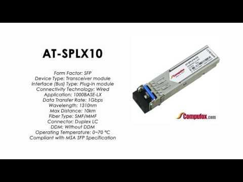 AT-SPLX10  |  Allied Telesis Compatible 1000Mbps 10km 1310nm SFP
