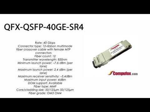 QFX-QSFP-40GE-SR4  |  Juniper Compatible 40GBase-SR4 QSFP+ 850nm 150m MMF
