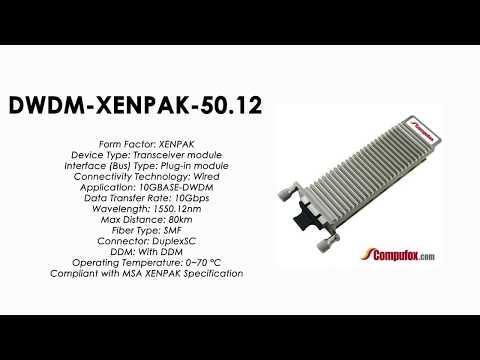 DWDM-XENPAK-50.12     Cisco Compatible 10GBASE-DWDM XENPAK 1550.12nm 80km
