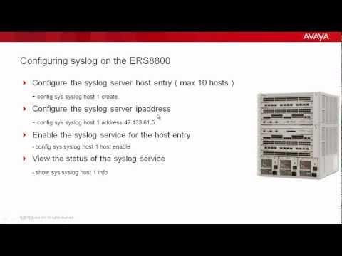 How To Configure Syslog On The Avaya ERS8800
