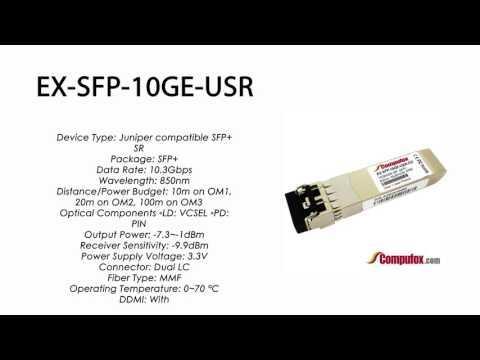 EX-SFP-10GE-USR  |  Juniper Compatible 10GBASE-SR SFP+ 850nm 100m MMF