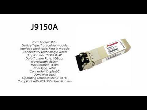J9150A  |  HP Compatible 10GBase-SR SFP+ 850nm 300m
