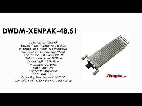 DWDM-XENPAK-48.51  |  Cisco Compatible 10GBASE-DWDM XENPAK 1548.51nm 80km