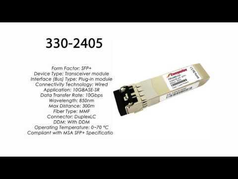 330-2405  |  Dell Compatible 10GBase-SR SFP+ 850nm 300m MMF