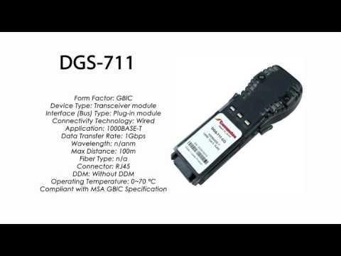 DGS-711 | D-Link Compatible 1000BASE-T GBIC RJ45 100m