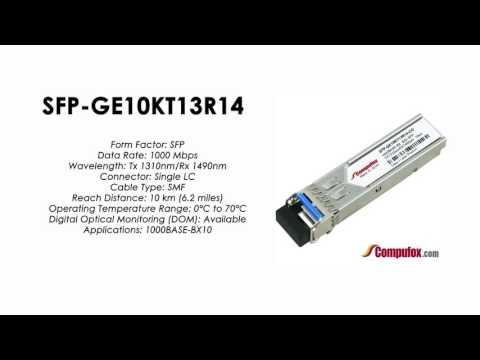 SFP-GE10KT13R14     Juniper Compatible 1000BASE-BX SFP Tx1310nm/Rx1490nm 10km