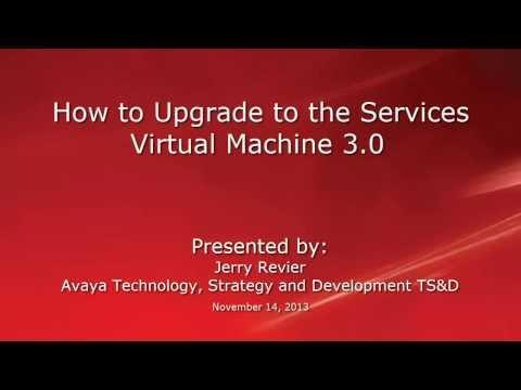 How To Upgrade To The Services Virtual Machine 3.0