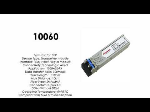 10060  |  Extreme Networks Compatible 100BASE-FX SFP 1310nm 10km