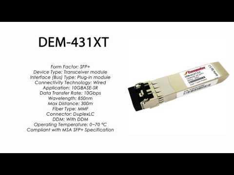 DEM-431XT | D-Link Compatible 10GBase-SR SFP+ 850nm 300m